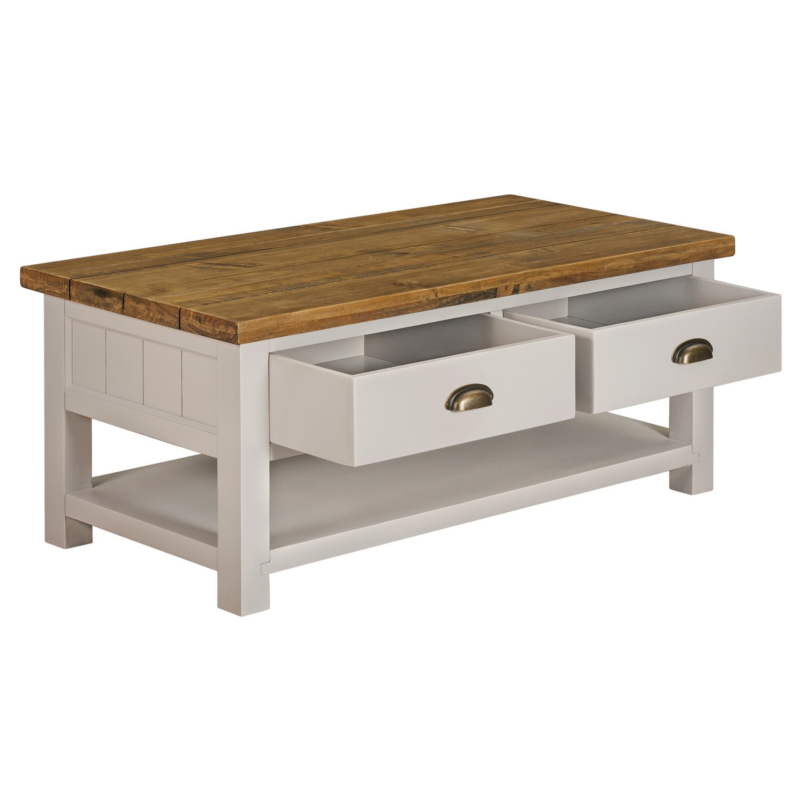 Cotswold Grey 2 Drawer Coffee Table